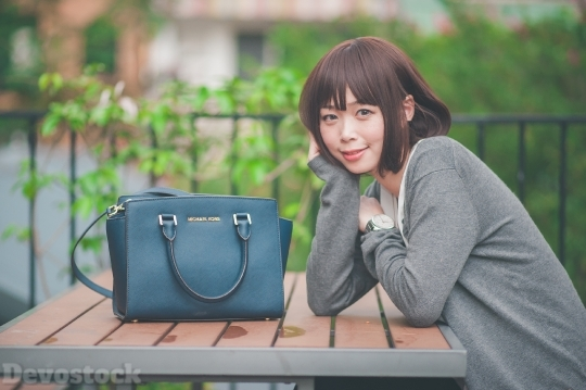 Devostock Taiwanese Lady Bag Girl 4k