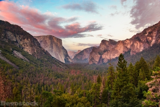 Devostock Tunnel View At Dusk Yosemite 5k X1 4K
