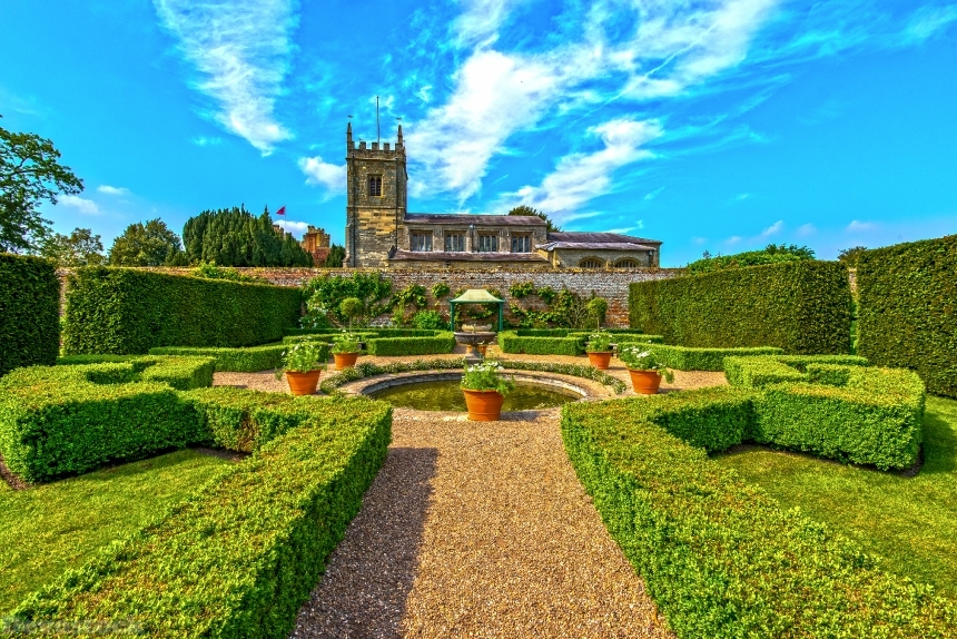 Devostock United Kingdom Parks Fountains Houses Coughton 4K