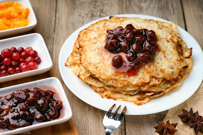 Devostock Pancakes and jam