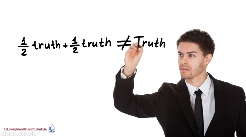 A man explaining some aspects about the truth