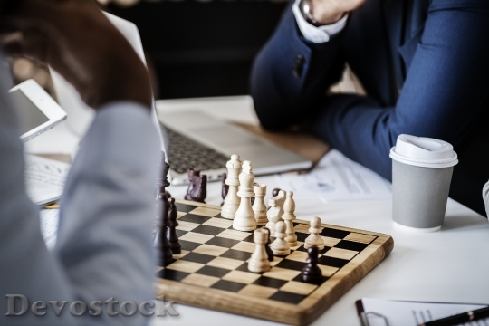 Devostock Chess game business strategy concept