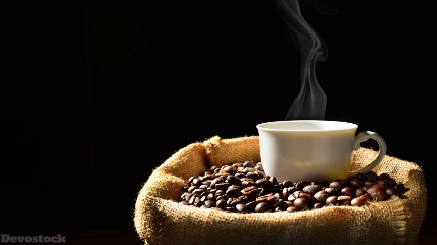 Devostock Coffee beans , designed photos