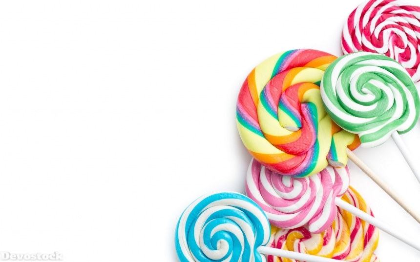 Devostock colorful swirl lollipop