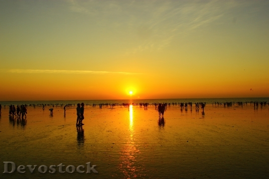 Devostock Seashore Sunset Evening Beach 0