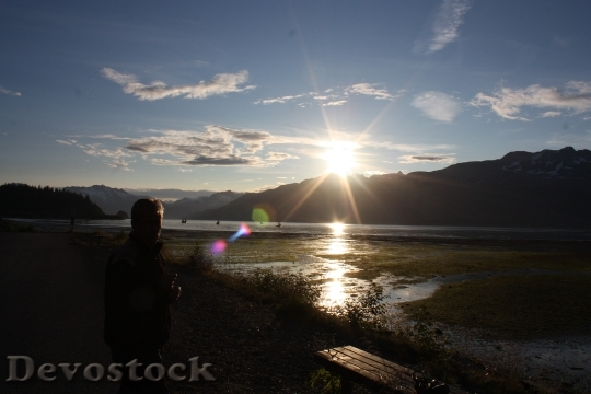Devostock Valdez Alaska Sunset Twilight