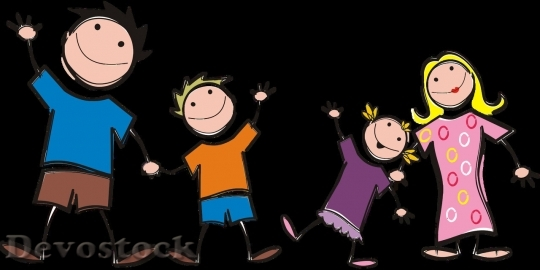 Devostock Family cartoon (4)