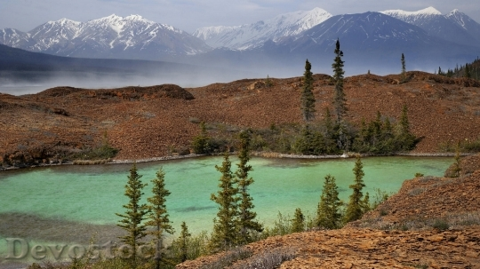Devostock Lake along Alsek River, Yukon, Canada