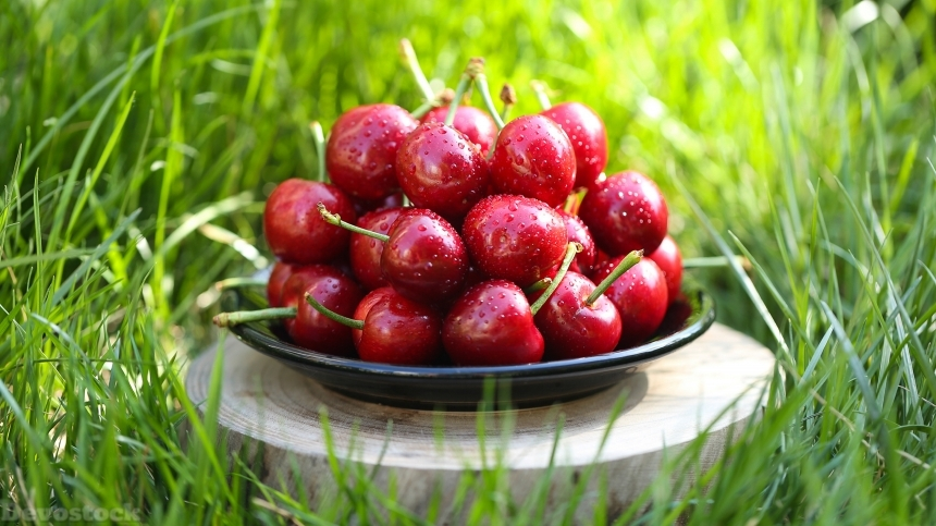 Devostock Nutritious fresh cherries  (9)