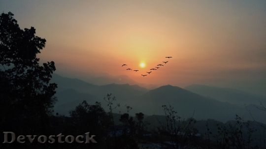 Devostock Sunrise and sunset scenery photo stock (9)