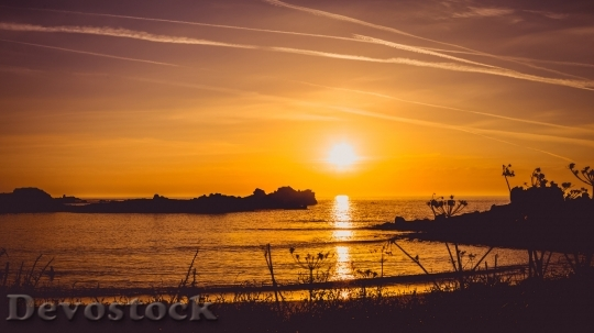 Devostock sunset beach sunrise nature images 4K