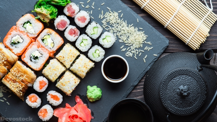 Devostock Sushi , Japanese and Korean food culture