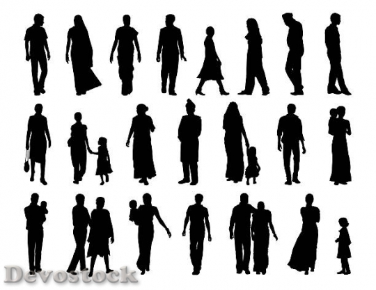 Devostock big-set-of-indian-people-silhouettes-illustration-$1