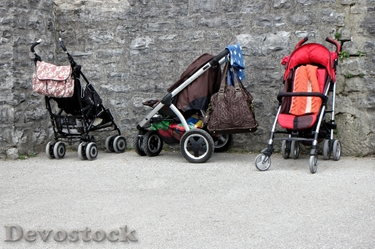 Devostock Baby Carriage Buggies Child