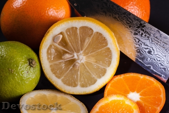 Devostock Fruit Knife Lemon Citrus