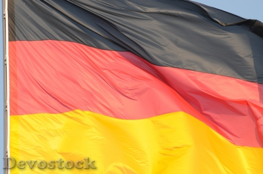 Devostock Germany Flag Black Red 3
