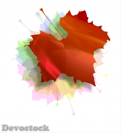 Devostock Isolated Autumn Leaves Illustration