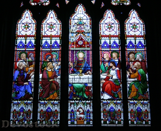 Devostock Last Supper Stained Glass