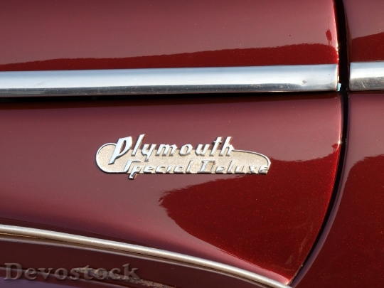 Devostock Plymouth Coupe Logo Automobiles