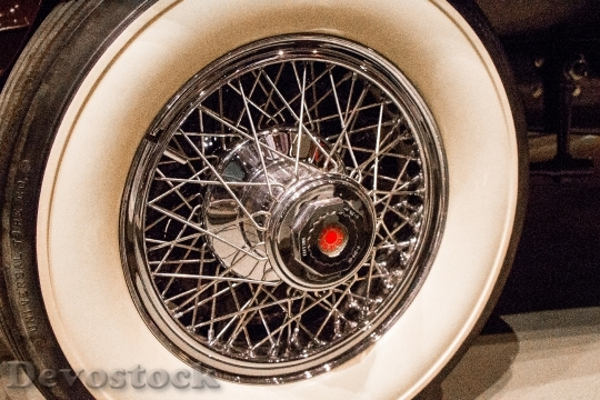 Devostock Spokes Chrome Wheel Whitewall