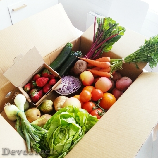 Devostock Vegetables Fruit Tomato Vegetable