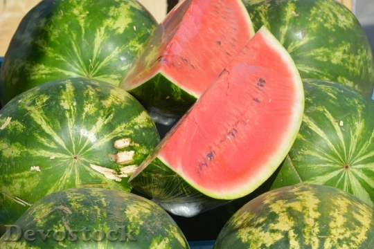 Devostock Watermelon Melon Fruit Red