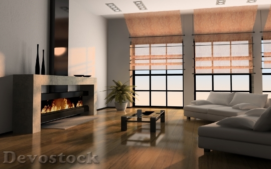 Devostock home interior 3d rendering