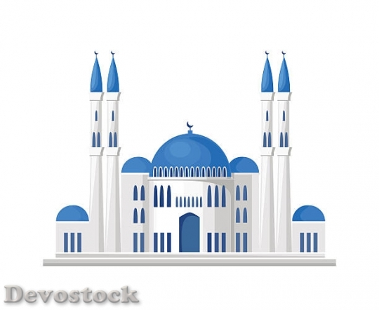 Devostock muslim-mosque-icon-isolated-on-white-background-ve$1