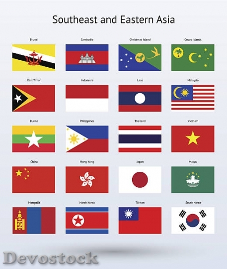Devostock southeast-and-eastern-asia-flags-collection-vector$1