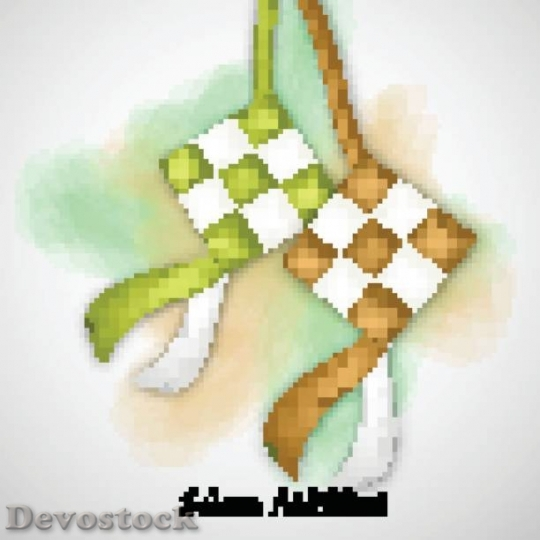 Devostock traditional-malay-ketupat-for-selamat-hari-raya-ve$1