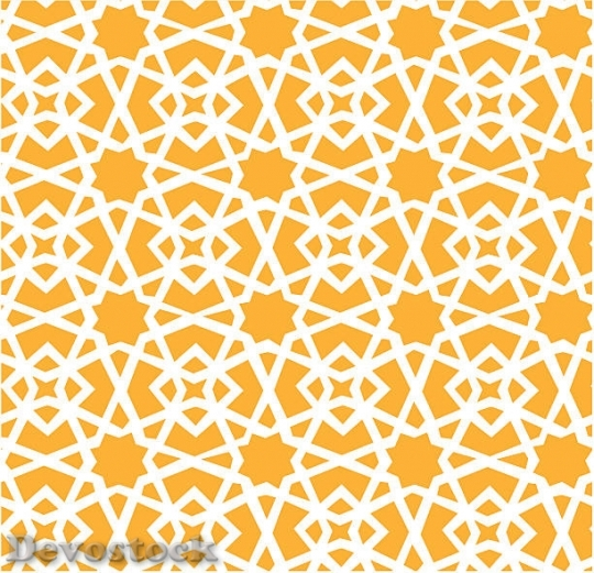 Devostock yellow-orange-background-and-white-geometric-patte$1
