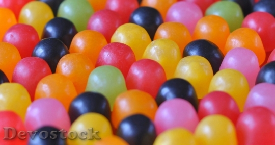 Devostock Candy Multicolored Bonbon Party