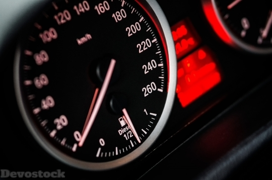 Devostock Car Close Up Speedometer 10436 4K