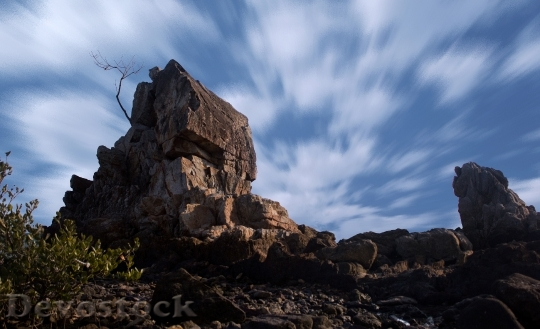 Devostock Cloud Rock Sky Twilight