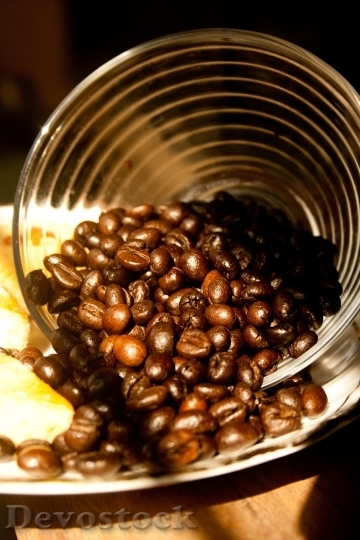 Devostock Coffee Beans Brown Bowl