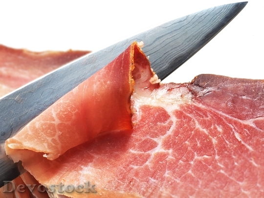 Devostock Ham Knife Eat Food