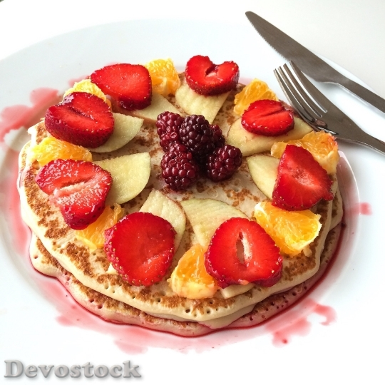 Devostock Pancake Mat Strawberries Organic
