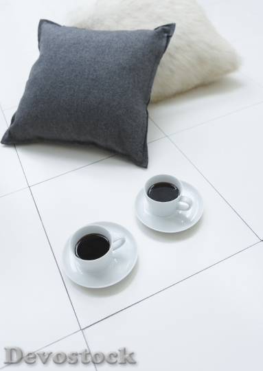 Devostock Pillows Two Cup Coffee