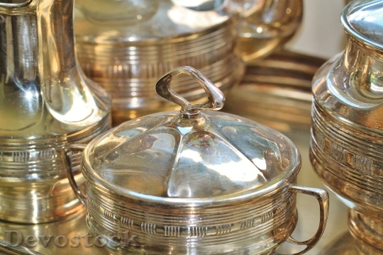 Devostock Silverware Silver Sugar Bowl