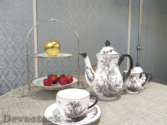 Devostock Tea Set Cup Saucer