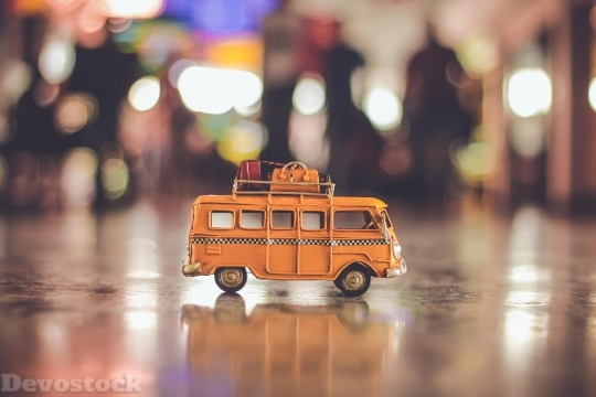 Devostock Yellow Vehicle Bus 38598 4K
