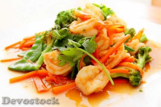 Devostock Food Prawn Asian 4K
